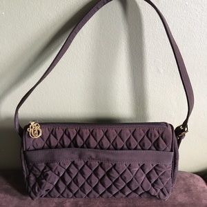 Vera Bradley Quilted Mini Bag Chocolate Brown